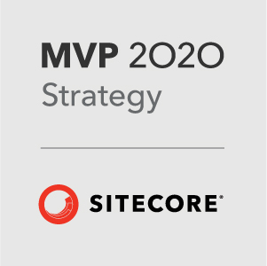 Photo Sitecore MVP award badge